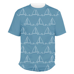 Rope Sail Boats Men's Crew T-Shirt (Personalized)