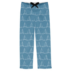 Rope Sail Boats Mens Pajama Pants (Personalized)