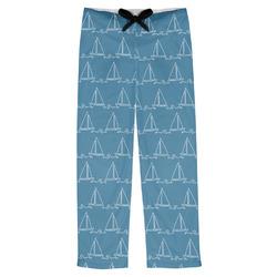 Rope Sail Boats Mens Pajama Pants (Personalized)