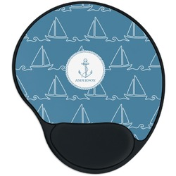 Rope Sail Boats Mouse Pad with Wrist Support