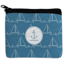 Rope Sail Boats Rectangular Coin Purse (Personalized)