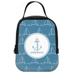 Rope Sail Boats Neoprene Lunch Tote (Personalized)