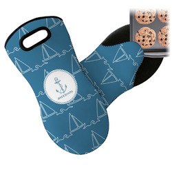 Rope Sail Boats Neoprene Oven Mitt (Personalized)