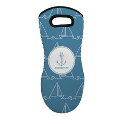 Rope Sail Boats Neoprene Oven Mitt - Single w/ Name or Text