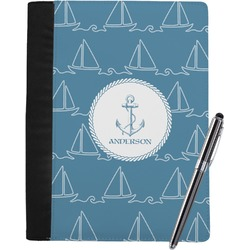 Rope Sail Boats Notebook Padfolio (Personalized)