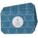Rope Sail Boats Dining Table Mat - Octagon w/ Name or Text