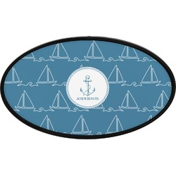 Rope Sail Boats Oval Trailer Hitch Cover (Personalized)