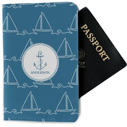 Rope Sail Boats Passport Holder - Fabric (Personalized)