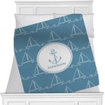 Rope Sail Boats Minky Blanket (Personalized)