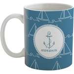 Rope Sail Boats Coffee Mug (Personalized)