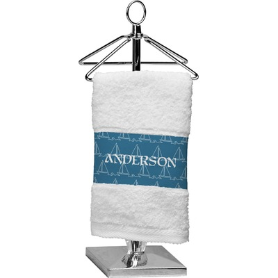 Rope Sail Boats Cotton Finger Tip Towel (Personalized)