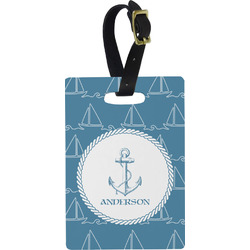 Rope Sail Boats Rectangular Luggage Tag (Personalized)