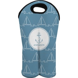 Rope Sail Boats Wine Tote Bag (2 Bottles) (Personalized)
