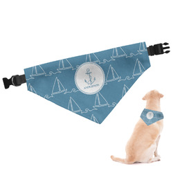 Rope Sail Boats Dog Bandana - Large (Personalized)