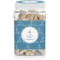 Rope Sail Boats Pet Treat Jar (Personalized)