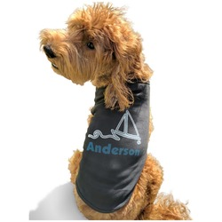 Rope Sail Boats Black Pet Shirt - S (Personalized)