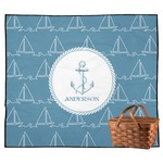 Rope Sail Boats Outdoor Picnic Blanket (Personalized)