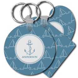 Rope Sail Boats Plastic Keychains (Personalized)