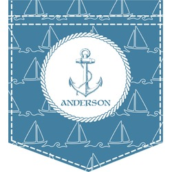 Rope Sail Boats Iron On Faux Pocket (Personalized)