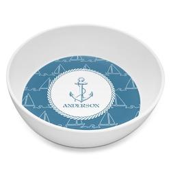Rope Sail Boats Melamine Bowl 8oz (Personalized)