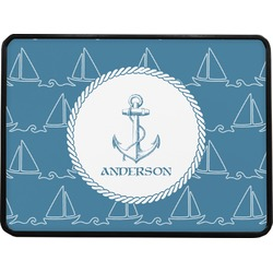Rope Sail Boats Rectangular Trailer Hitch Cover (Personalized)