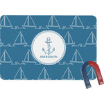 Rope Sail Boats Rectangular Fridge Magnet (Personalized)