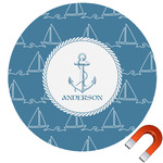 Rope Sail Boats Car Magnet (Personalized)