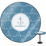 Rope Sail Boats Round Table (Personalized)