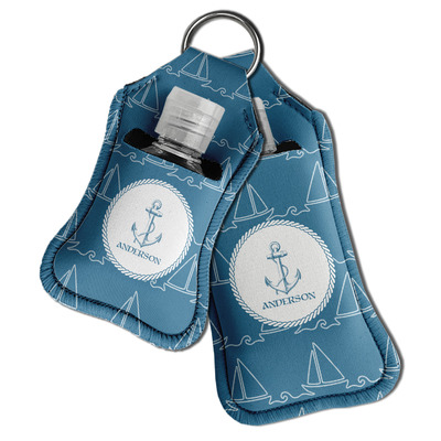 Rope Sail Boats Hand Sanitizer & Keychain Holder (Personalized)