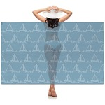 Rope Sail Boats Sheer Sarong (Personalized)