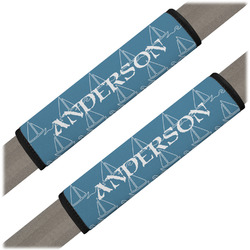 Rope Sail Boats Seat Belt Covers (Set of 2) (Personalized)
