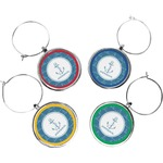 Rope Sail Boats Wine Charms (Set of 4) (Personalized)