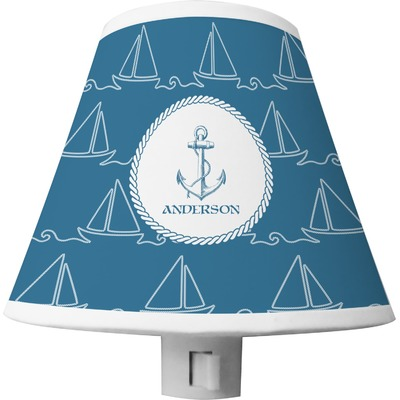 Rope Sail Boats Shade Night Light (Personalized)