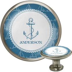 Rope Sail Boats Cabinet Knob (Silver) (Personalized)