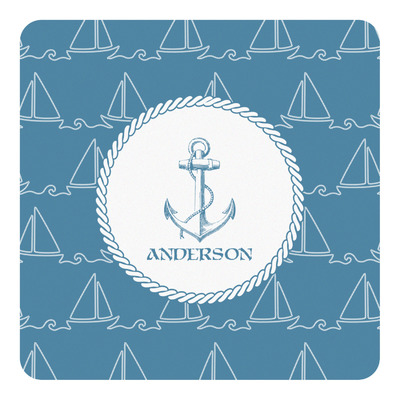 Rope Sail Boats Square Decal (Personalized)