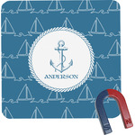 Rope Sail Boats Square Fridge Magnet (Personalized)