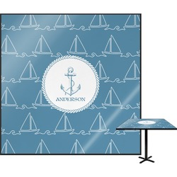 Rope Sail Boats Square Table Top (Personalized)
