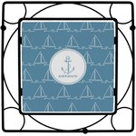 Rope Sail Boats Square Trivet (Personalized)