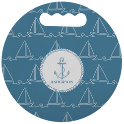 Rope Sail Boats Stadium Cushion (Round) (Personalized)