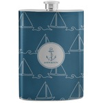 Rope Sail Boats Stainless Steel Flask (Personalized)