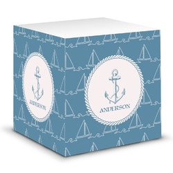 Rope Sail Boats Sticky Note Cube (Personalized)