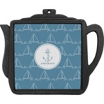 Rope Sail Boats Teapot Trivet (Personalized)