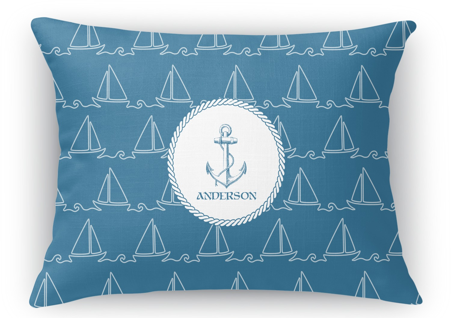 Decorative Pillows For Yachts : Rope Sail Boats Rectangular Throw Pillow - 18