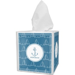 Rope Sail Boats Tissue Box Cover (Personalized)