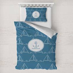 Rope Sail Boats Toddler Bedding w/ Name or Text