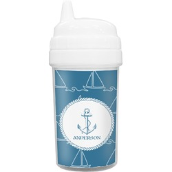 Rope Sail Boats Toddler Sippy Cup (Personalized)