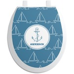 Rope Sail Boats Toilet Seat Decal (Personalized)