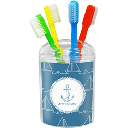 Rope Sail Boats Toothbrush Holder (Personalized)