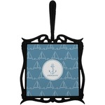 Rope Sail Boats Trivet with Handle (Personalized)