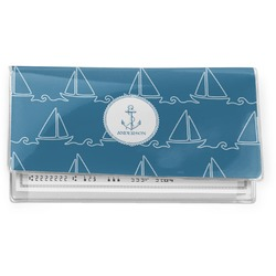 Rope Sail Boats Vinyl Check Book Cover (Personalized)
